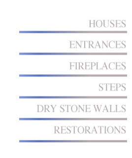 We design and construct a variety of projects using field stone